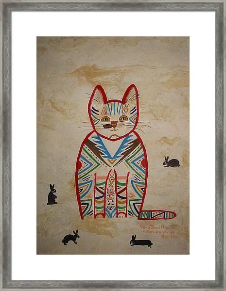 Sarah's Cat Framed Print