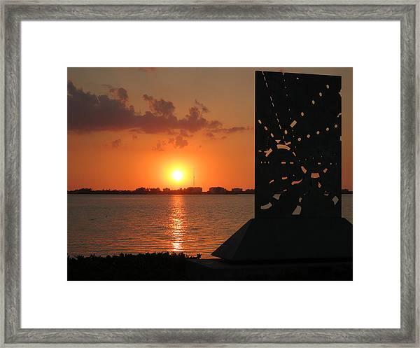 Sarasota Bay Sunset Framed Print