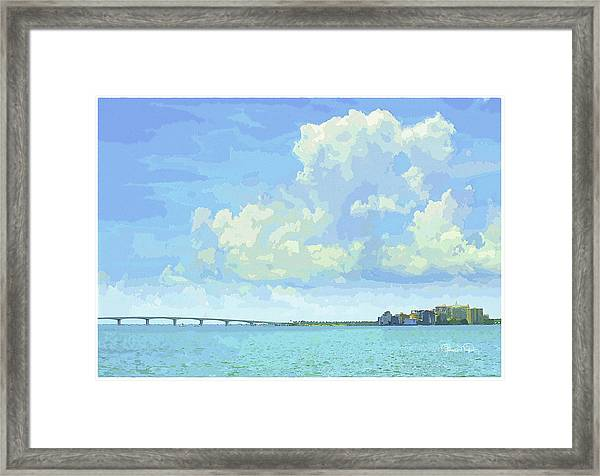 Sarasota Skyline From Sarasota Bay Framed Print