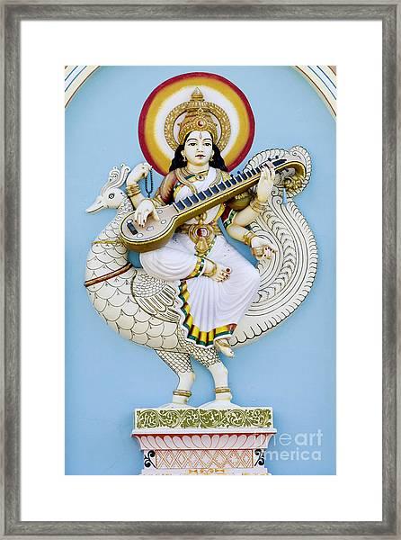 Saraswati Framed Print by Tim Gainey