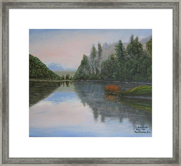 Sarita Lake On Vancouver Island Framed Print