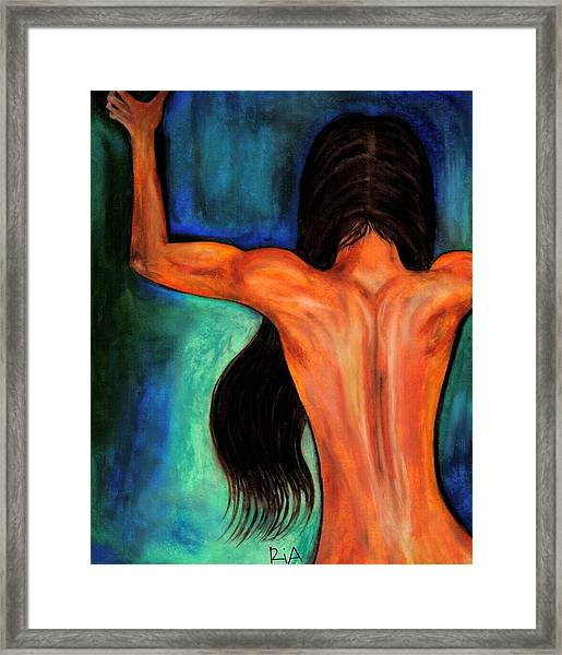 Satin Curves Framed Print