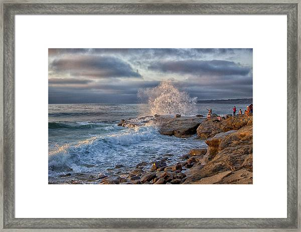 Saturday At The Shore With Gustavo. Framed Print