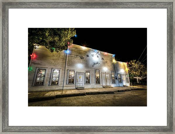 Saturday Night At Gruene Hall Framed Print