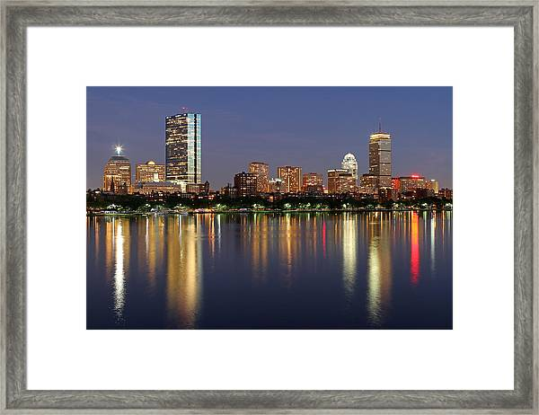 Saturday Night Live In Beantown Framed Print