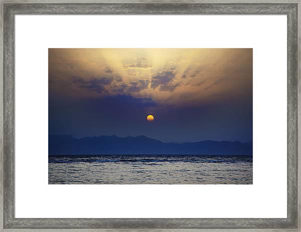 Saudi Sunrise Framed Print