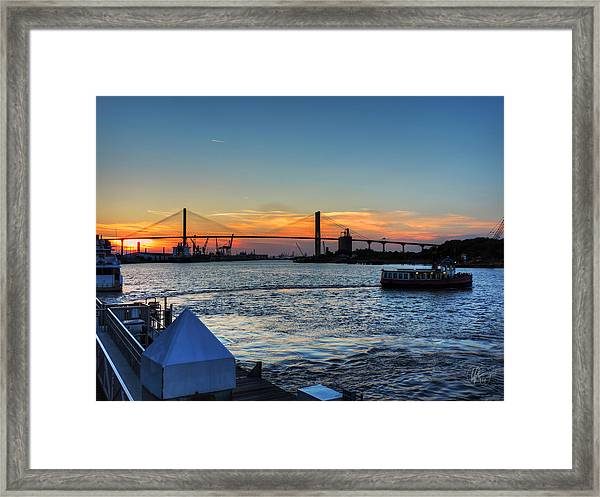 Framed Print featuring the photograph Savannah River 001 by Lance Vaughn