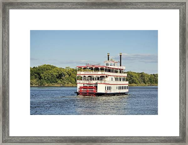 Savannah River Steamboat Framed Print