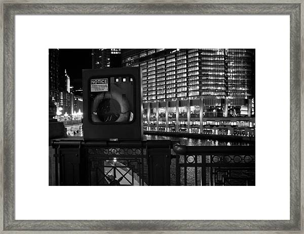 Save A Life On The River Framed Print