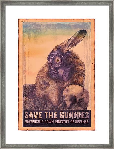Save The Bunnies Framed Print