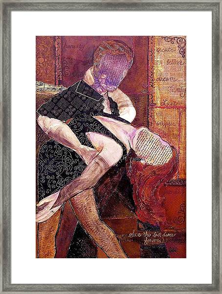 Save The Last Dance For Me Framed Print