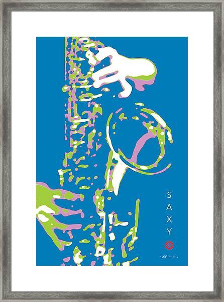 Saxy Blue Poster Framed Print