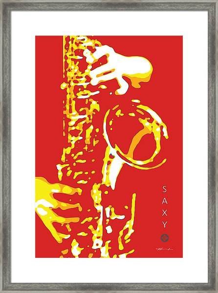 Saxy Red Poster Framed Print
