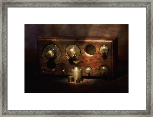 Scale Weights Still Life II Framed Print