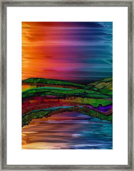 Scattering Waves Framed Print