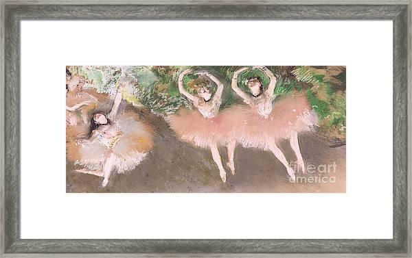 Scene De Ballet Framed Print