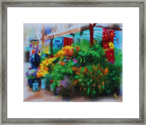 Scene From La Rambla Framed Print