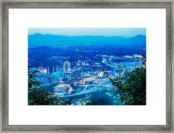 Scenics Around Mill Mountain Roanoke Virginia Usa Framed Print