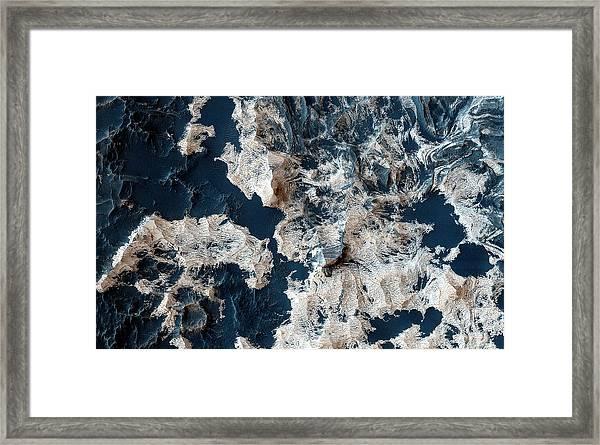 Schiaparelli Crater Mars Framed Print
