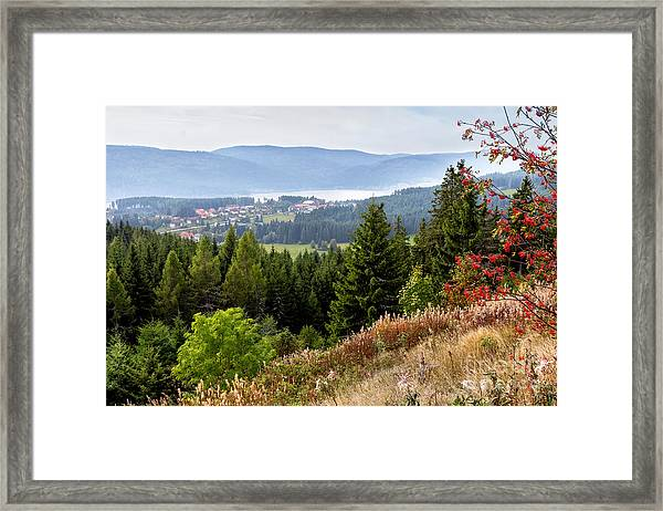 Schluchsee In The Black Forest Framed Print