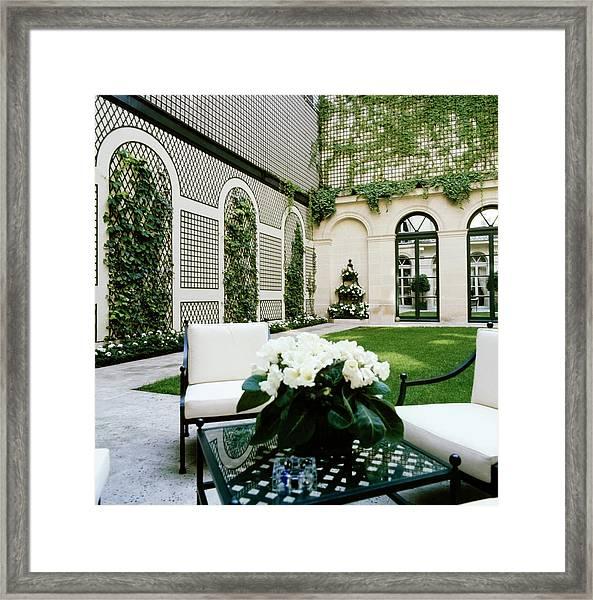 Schlumberger's Garden Framed Print by Horst P. Horst