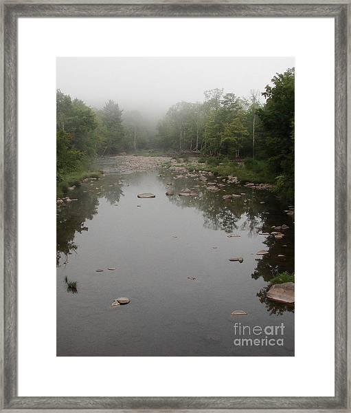 Schoharie Morning Fog Framed Print