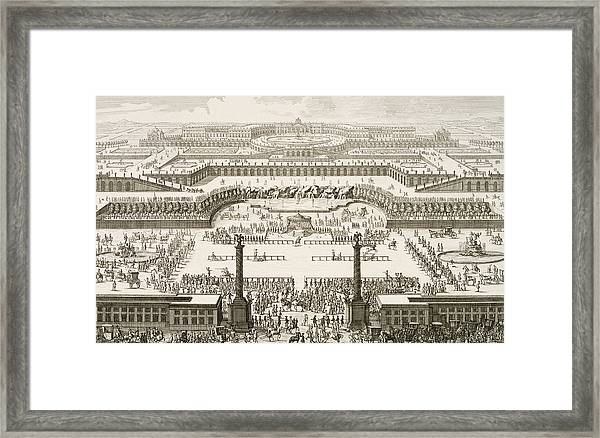 Schonbrunn Palace In Vienna Framed Print