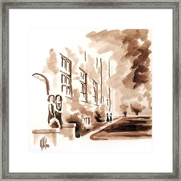 School Days At Ursuline Framed Print