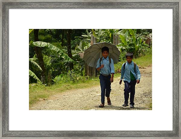School's Out Framed Print by Aaron Bedell