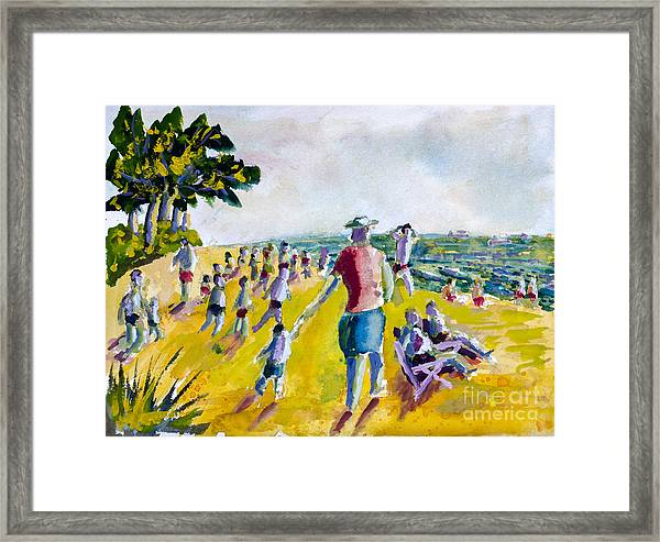 School's Out On The Beach Framed Print