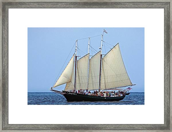 Schooner Alliance Framed Print