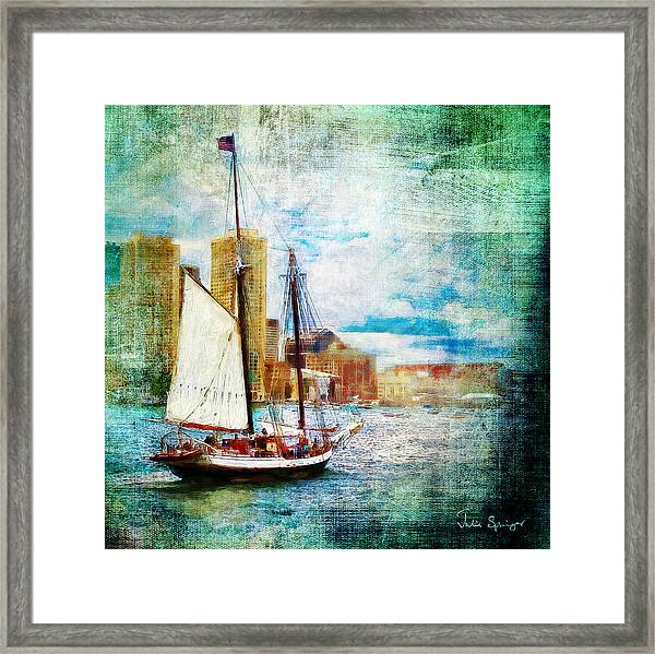 Schooner Bay Framed Print
