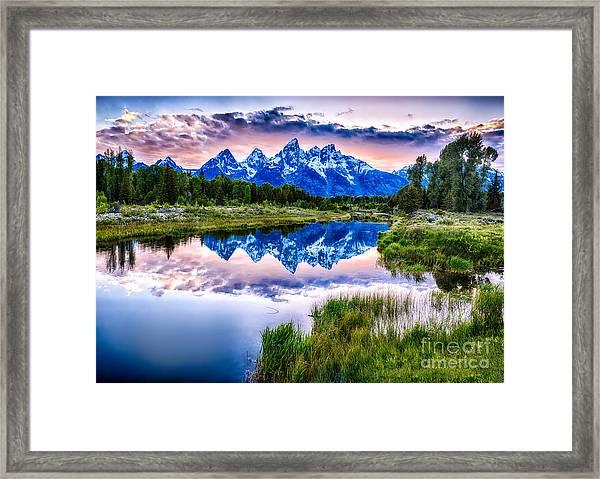 Blue Teton Framed Print