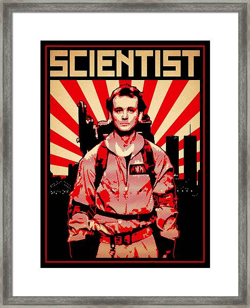 Framed Print featuring the digital art Scientist by Lance Vaughn