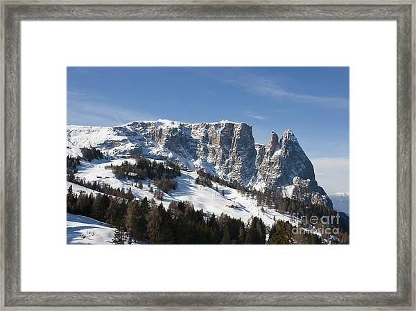Sciliar's Mountains Framed Print by Pier Giorgio Mariani