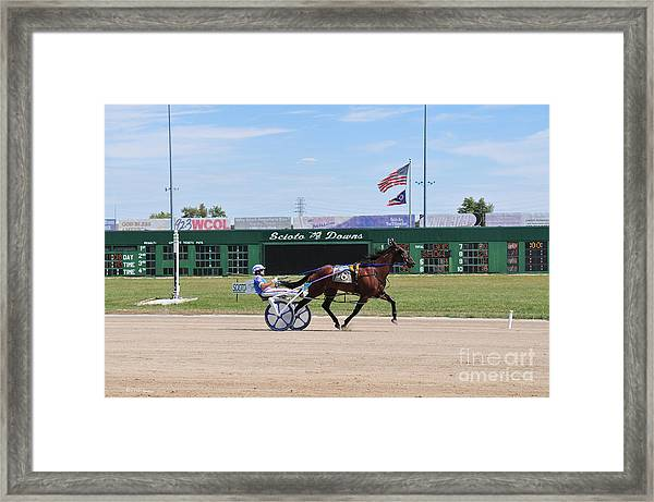 D3w-206 Scioto Downs Photo Framed Print