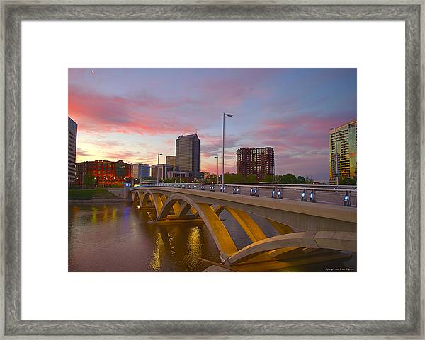 Framed Print featuring the photograph Scioto Morning 50526 by Brian Gryphon