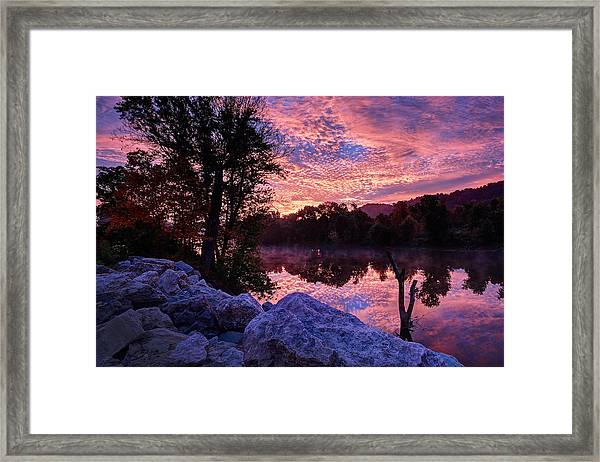 Scioto Sunrise Framed Print