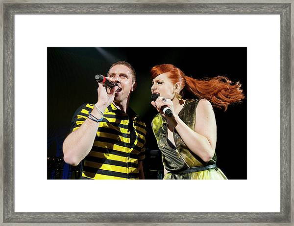 Scissor Sisters Perform At Shepherds Framed Print