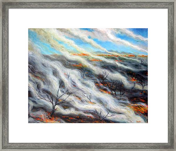 Scorched Earth, 2014, Oil On Canvas Framed Print