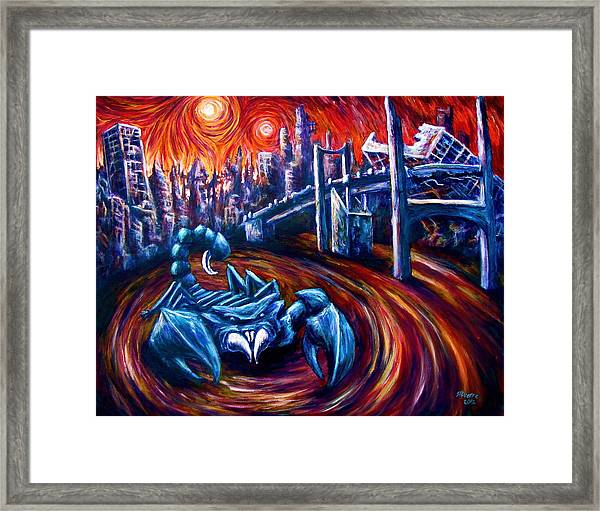 Scorpion King  Framed Print
