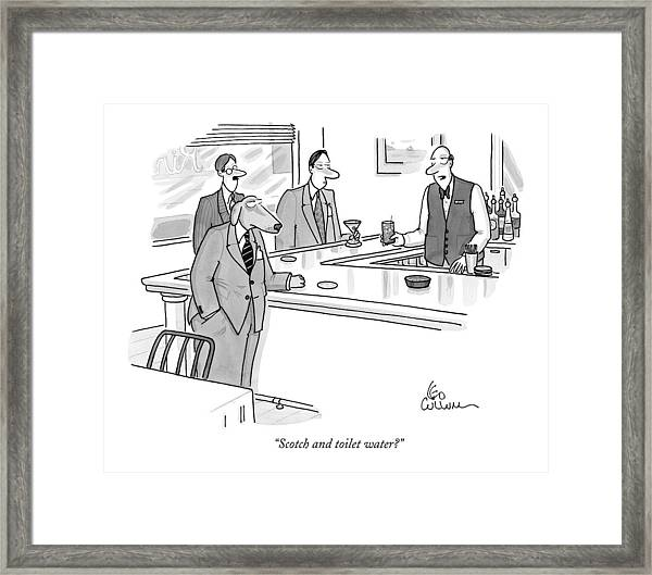 Scotch And Toilet Water? Framed Print
