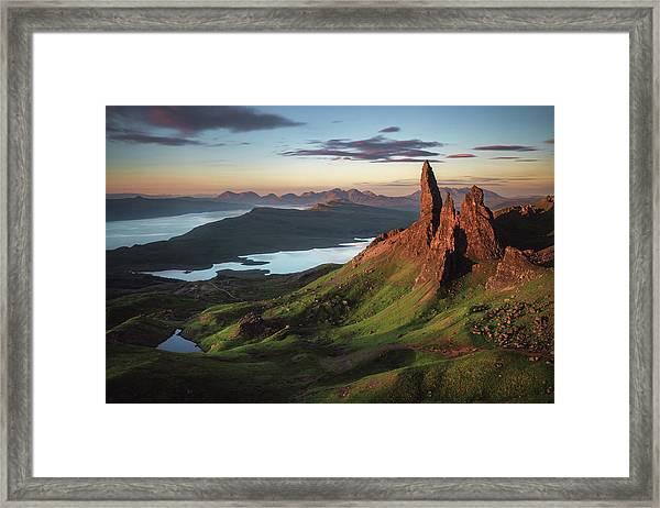 Scotland - Old Man Of Storr Framed Print by Jean Claude Castor