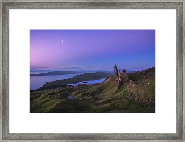 Scotland - Storr At Night Framed Print