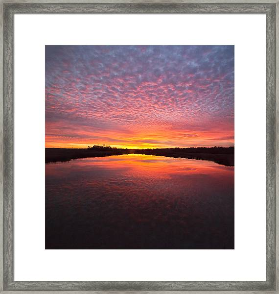 Scott Creek Sunset Panorama 03 Framed Print