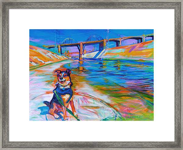 Scout The River Guard Framed Print
