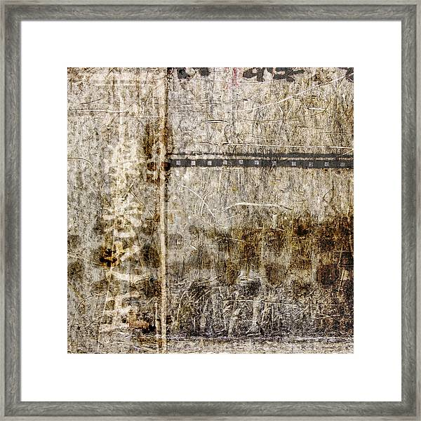 Scratched Metal And Old Books Number 1 Framed Print