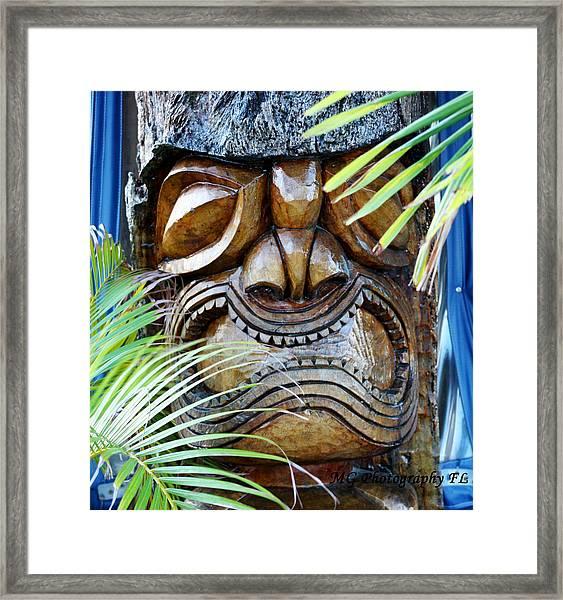 Screaming Tiki  Framed Print