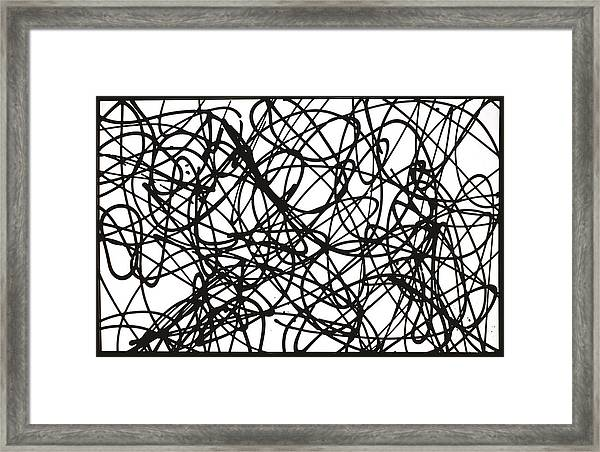 Abstract For Ya'll Make Some Room On This Dance Floor For Miss Debbie Framed Print