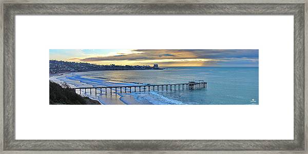 Scripps Pier - To The Point Framed Print